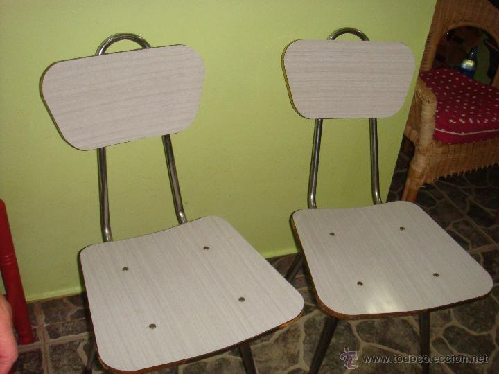 2 sillas de formica color gris a os 60 comprar muebles vintage en todocoleccion 51080372 - Sillas formica ...