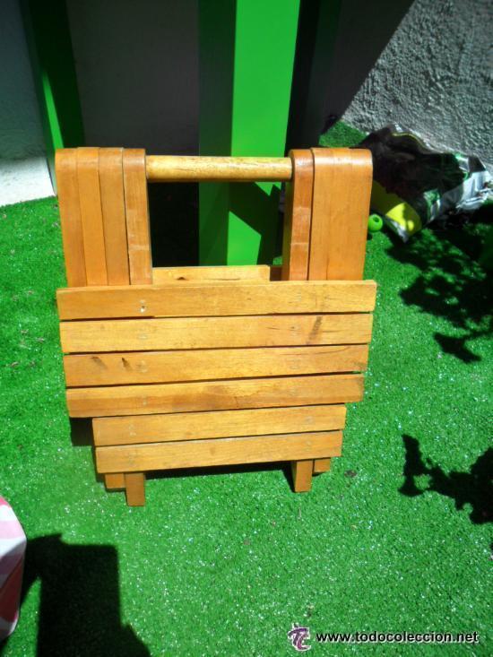 silla ò banqueta plegable en madera - antigua - Comprar Muebles ...