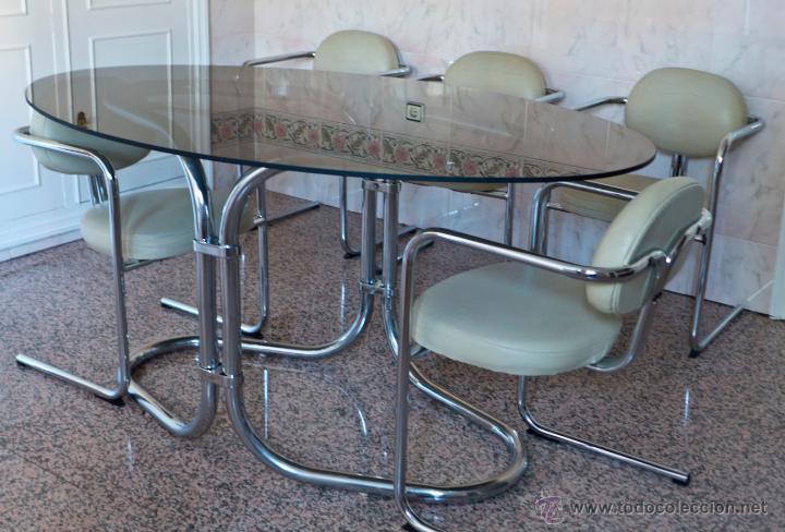 Conjunto comedor mesa y seis sillas dise o bauh comprar for Comedor seis sillas