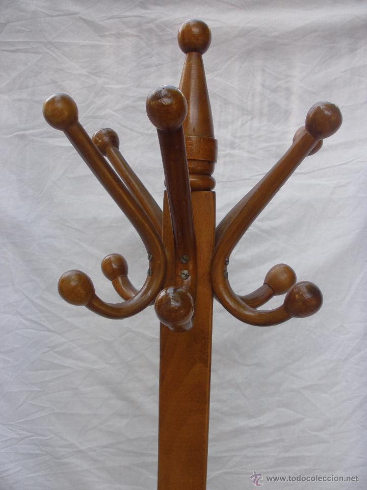 Percheros en madera antiguo y original perchero - Percheros de madera ...