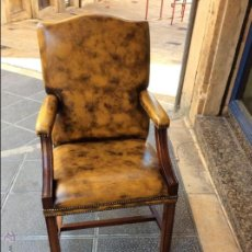 Vintage: SILLON GAINSBOROUGH, PIEL 100%, COLOR MOSTAZA.. Lote 51924322