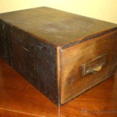 Antiguo fichero de madera comprar muebles vintage en for Mueble fichero