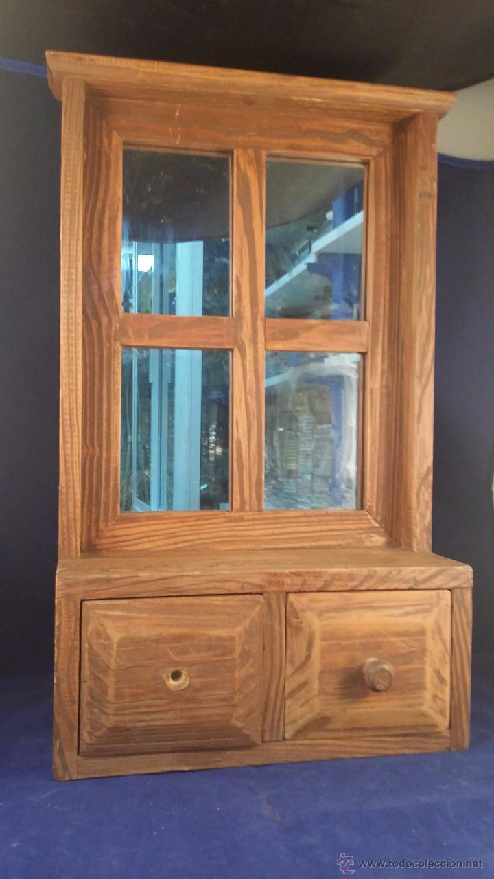pequeño mueble de madera para colgar con espejo - Comprar Muebles ...