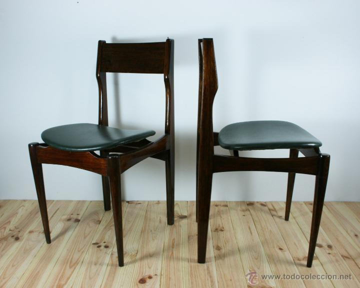 Pareja de sillas danesas n rdicas a os 60 comprar - Sillas anos 60 ...