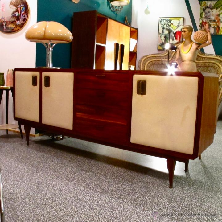Aparador madera antiguo vintage nordico escandi comprar for Muebles retro online
