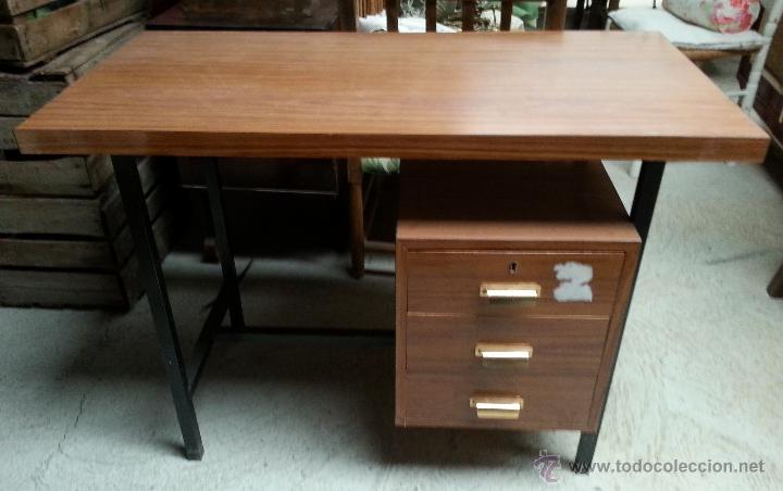 mesa de despacho o pupitre vintage de hierro tu - Comprar Muebles ...