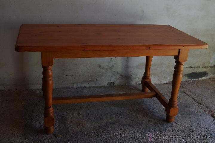 comedor: mesa de pino con 6 sillas - Comprar Muebles vintage en ...