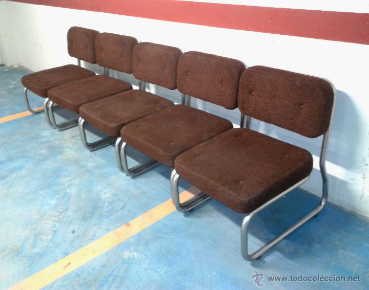 Silla sillon 4 sillones lote vintage despacho o comprar muebles vintage en todocoleccion - Sillon de espera para peluqueria ...