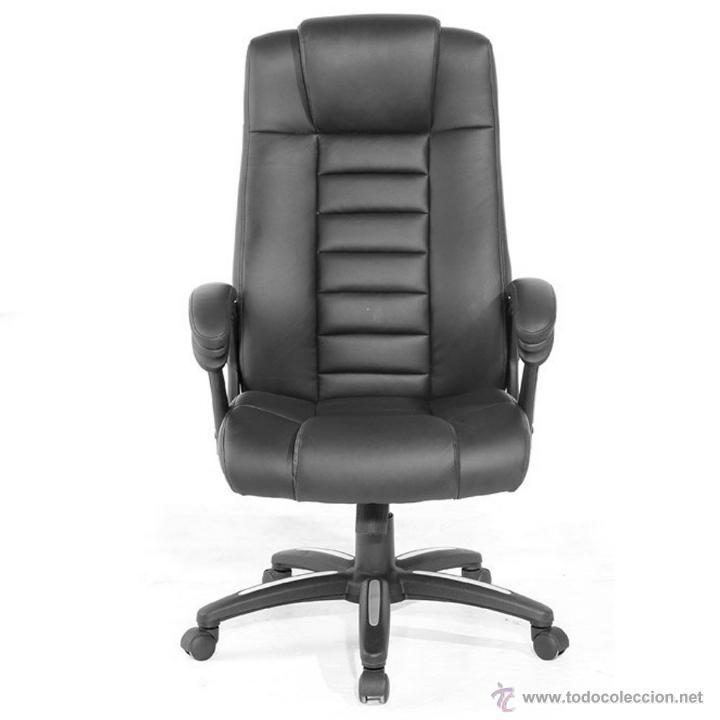 Vintage: TecTake 400585 - Silla de escritorio de oficina, de cuero, color negro - Foto 2 - 53302879