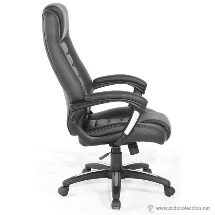 Vintage: TecTake 400585 - Silla de escritorio de oficina, de cuero, color negro - Foto 3 - 53302879