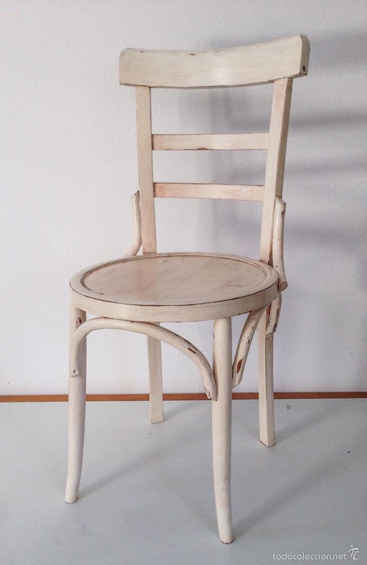 Silla Curvada Estilo Thonet Color Blanco Hueso Comprar Muebles  # Muebles Mocholi