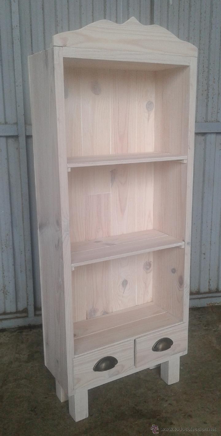 Mueble bajo estanteria blanca 3 baldas con 2 ca comprar for Muebles online vintage