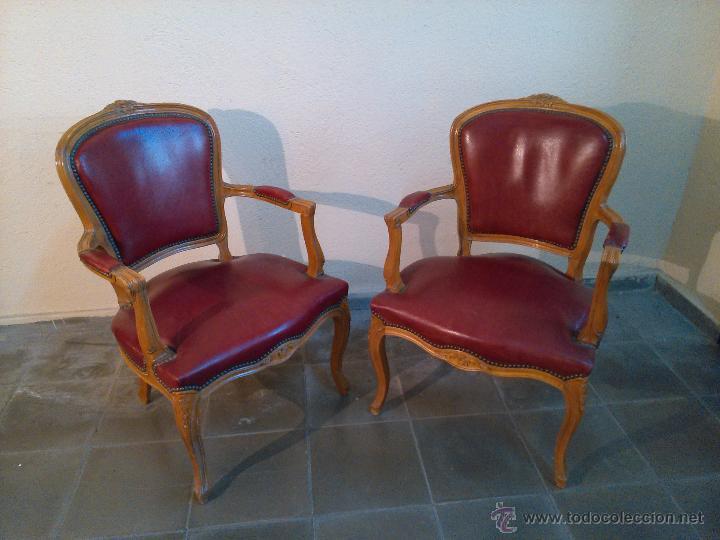 Pareja de peque os butacones rojos comprar muebles - Muebles online vintage ...