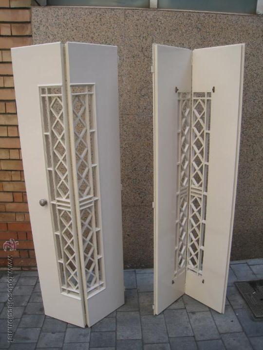 Puertas de interior abatibles alacena armario comprar muebles vintage en todocoleccion - Puertas de armario abatibles ...