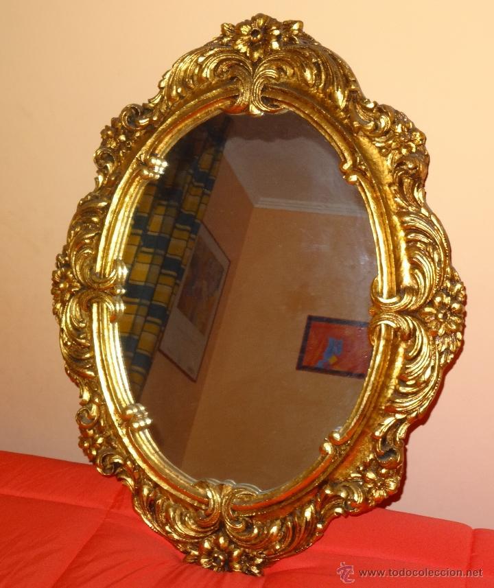 espejo 83 x 65 cm. marco de madera pintado pan - Comprar Muebles ...