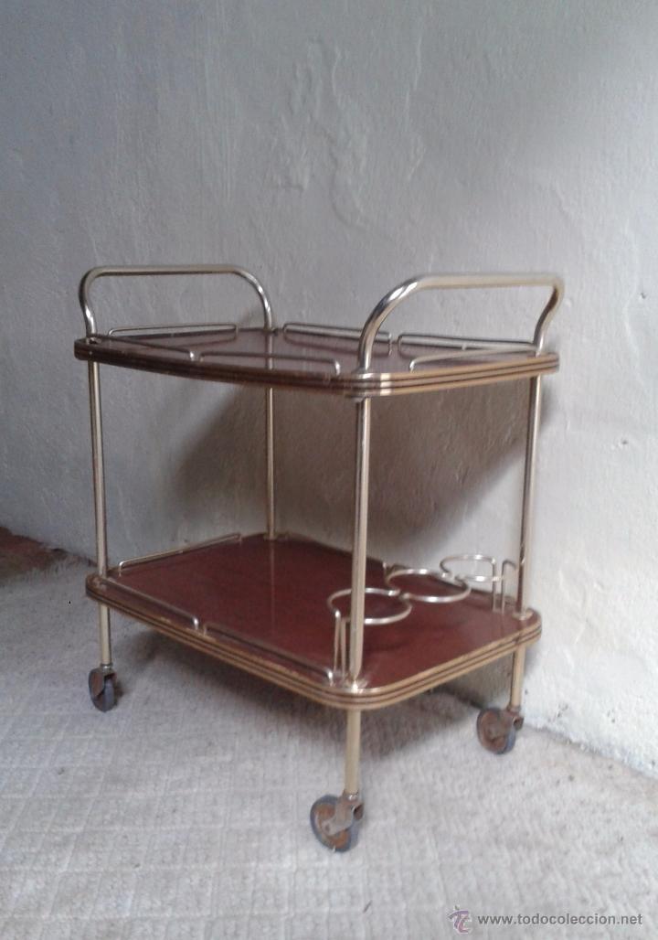 Camarera retro antigua licorera antigua carrito comprar muebles vintage en todocoleccion - Carrito camarera vintage ...