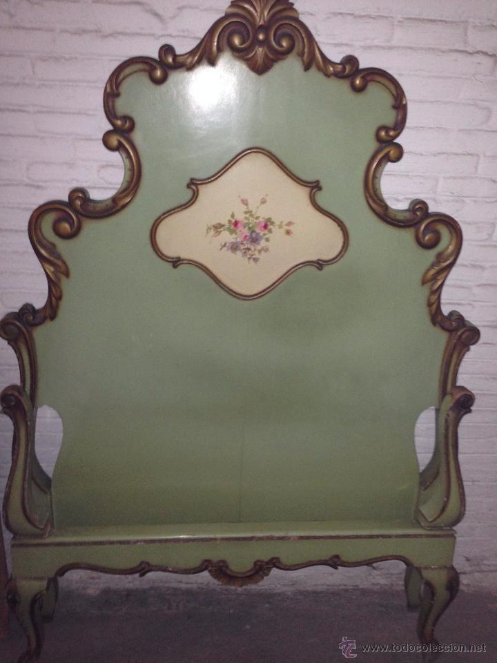 Cabecero de madera estilo provenzal pintado en comprar - Muebles estilo vintage ...