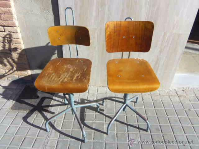 Pareja de sillas. vintage. de fabrica u oficina - Verkauft durch ...