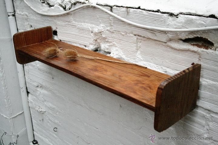 Estanteria balda alacena madera natural transp comprar muebles vintage en todocoleccion - Balda de madera ...