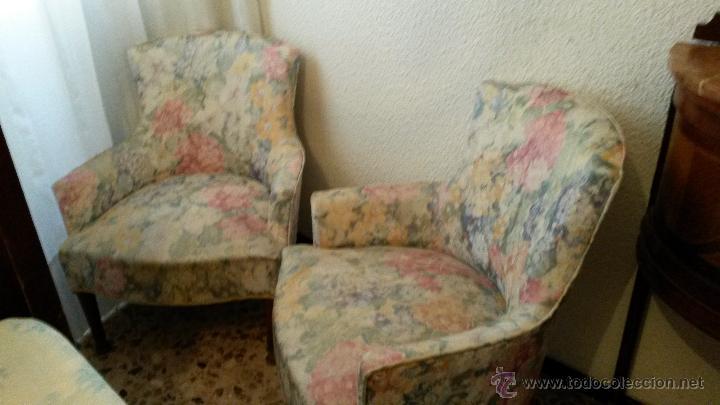 butacas tapizadas flores vintage vintage muebles