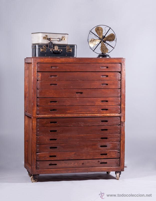 Antiguo mueble cajonera industrial recuperado 1 comprar for Comprar mueble industrial