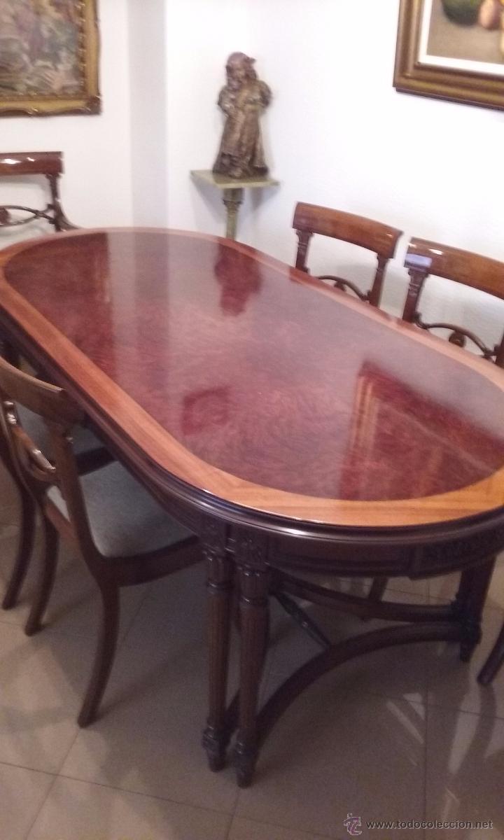 mesa comedor tipo inglés - Comprar Muebles vintage en todocoleccion ...