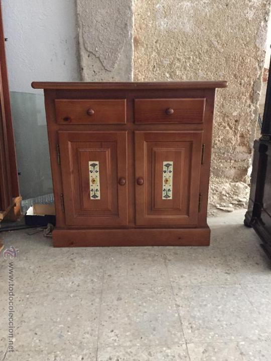 Mueble de dos puertas color miel comprar muebles vintage for Mueble dos puertas