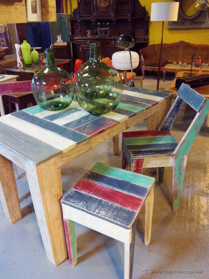 mesa comedor colores - Comprar Muebles vintage en todocoleccion ...