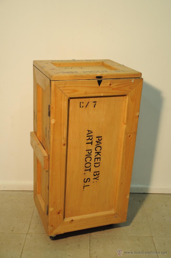 Caja de embalaje de madera transformada en mueb comprar muebles vintage en todocoleccion - Comprar muebles vintage baratos ...