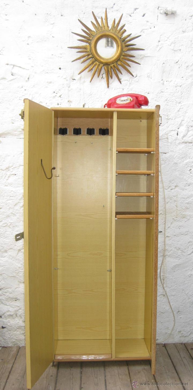 Genial armario armero mueble vintage ideal deco comprar for Armario industrial vintage