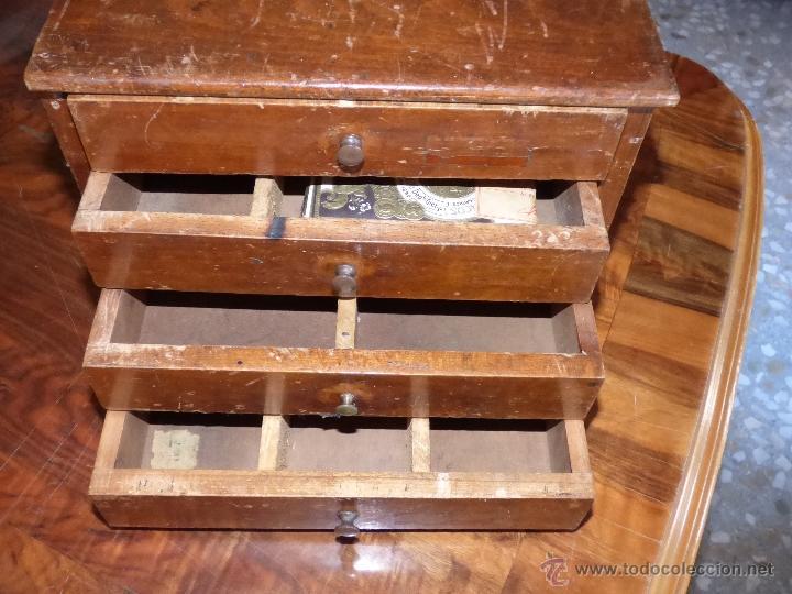 Peque o mueble 4 cajones archivador antiguo comprar for Muebles para colecciones
