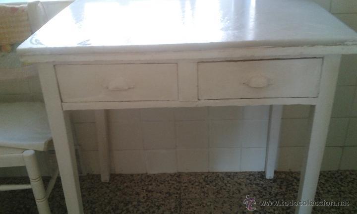 mesa de cocina con tapa de mármol (años 50) - Comprar Muebles ...