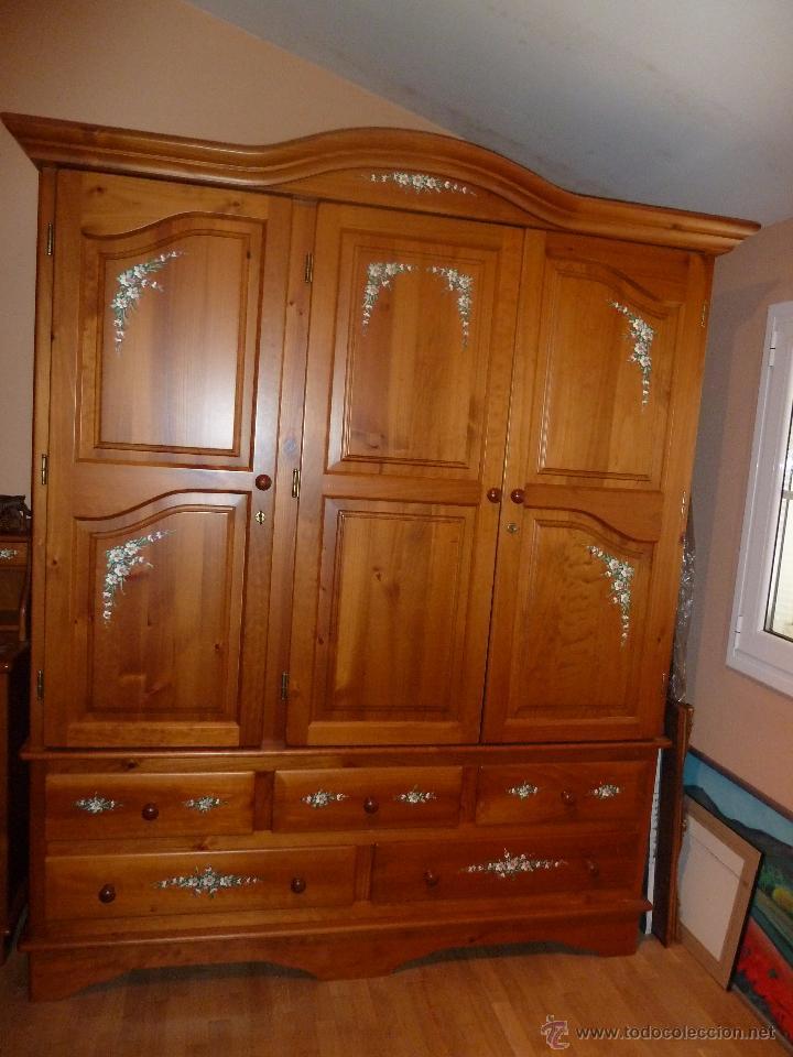 Armario dormitorio habitacion de madera maziza comprar - Armarios de madera para dormitorios ...
