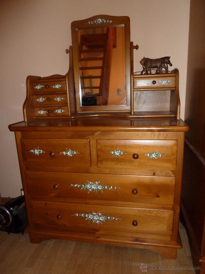 Comoda tocador con espejo de dormitorio habitac comprar for Espejos para comodas de dormitorio
