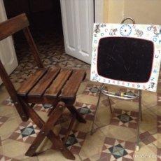 Vintage: SILLA INFANTIL PLEGABLE AÑOS 50. Lote 54996411
