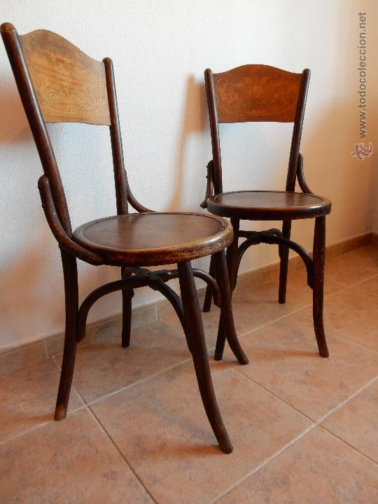 Antigua pareja de sillas de madera estilo thone comprar for Muebles retro online