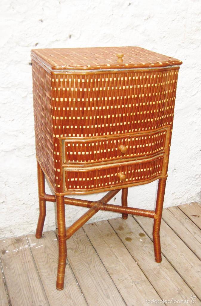 Precioso mueble costura costurero mimbre muy bu comprar for Mueble costurero