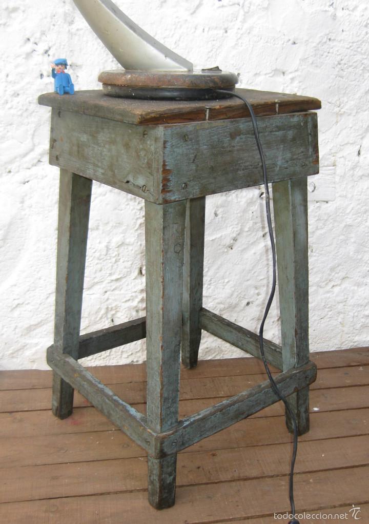 taburete vintage madera