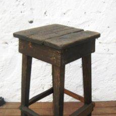 Vintage: PRECIOSA SILLA MESITA TABURETE VINTAGE MADERA ANTIGUO IDEAL DECORACION INDUSTRIAL. Lote 146197384