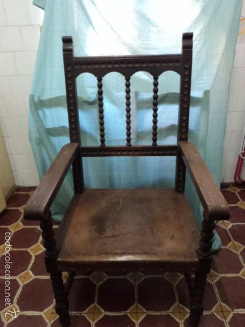 preciosa silla antigua despacho en madera de ca - Comprar Muebles ...