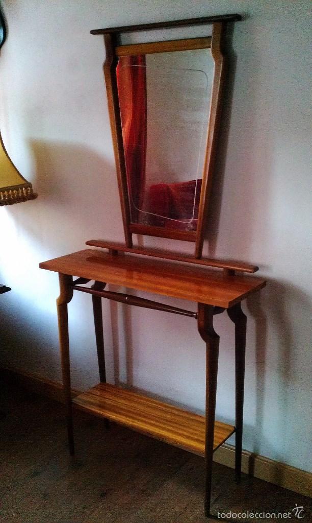 Recibidor escandinavo consola y espejo a os 50 comprar - Muebles anos 50 madrid ...