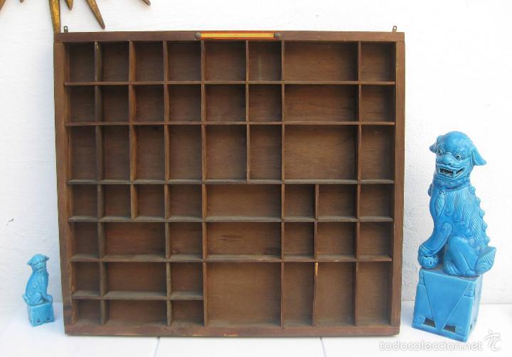 Mueble vitrina antiguo vintage casillero para m comprar for Muebles para colecciones