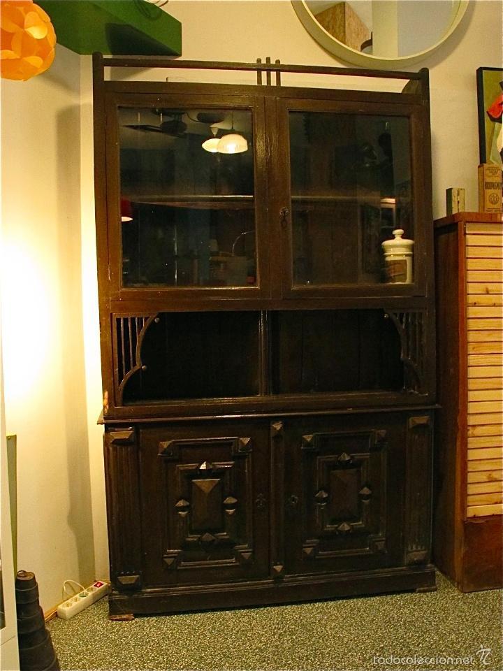 Mueble aparador armario art deco antiguo vitri comprar muebles vintage en todocoleccion - Mueble entrada segunda mano ...