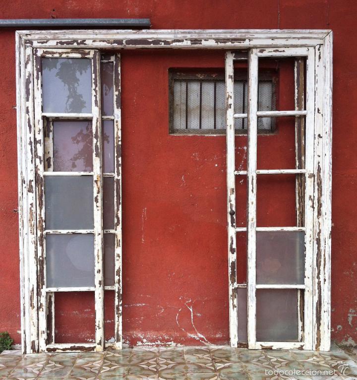 Antigua alcoba puertas correderas cristalera vendido en for Puertas correderas antiguas