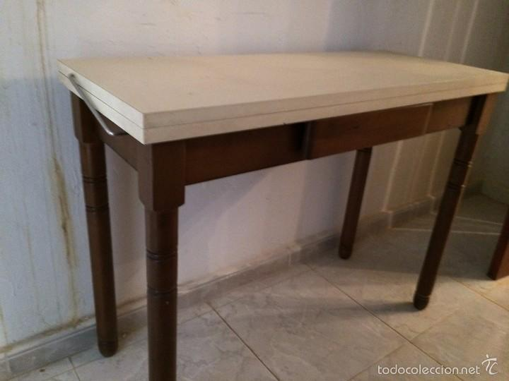 Mesa plegable cocina vintage formica comprar muebles - Mesa cocina vintage ...