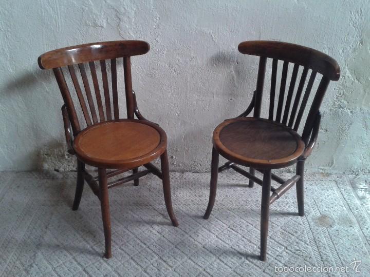Pareja de sillas antiguas vintage silla de ofi comprar for Muebles de oficina resistencia chaco