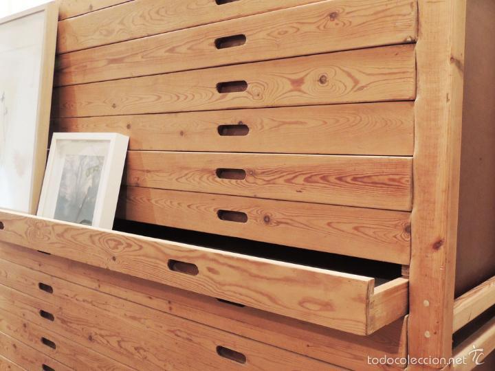 Mueble de cajones en madera de pino tea 15 caj comprar - Muebles de cajones ...