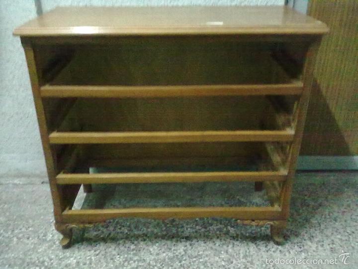 Comoda roble comprar muebles vintage en todocoleccion 56718054 - Decapar muebles barnizados ...