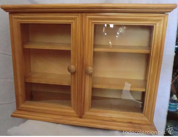 Preciosa vitrina de madera de pino para colgar comprar - Vitrinas para colgar ...