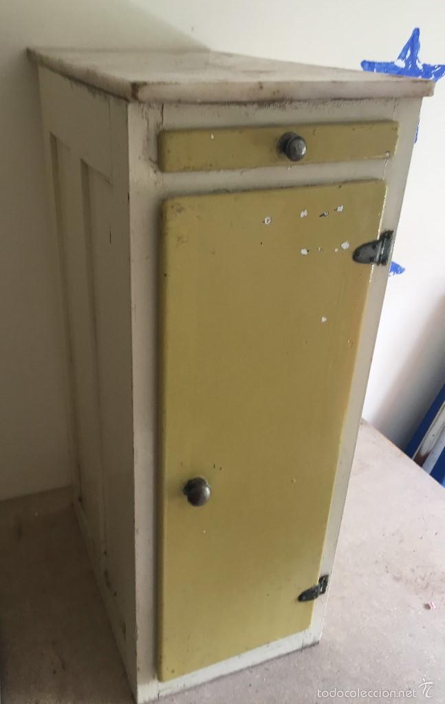 Peque o mueble de cocina de madera y m rmol comprar muebles vintage en todocoleccion 57089443 - Comprar muebles vintage baratos ...